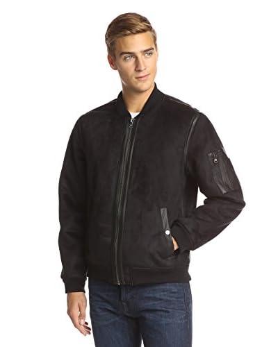 Sean John Men's Faux Suede Varsity Jacket
