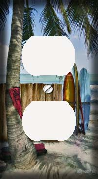 Surfboards On The Beach Decorative Outlet Cover