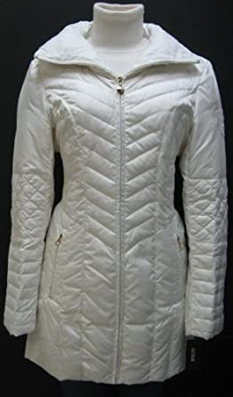 Buy Guess Midlenght Down Coat, Jacket, Cream Xlarge Md803 by GUESS