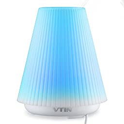Vtin 100ml Aromatherapy Essential Oil Diffuser Air Humidifier with 7 Changing Colors Auto Shut Off System