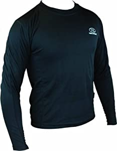 Highlander Men's Climate X Long Sleeved Tee Shirt Baselayer - Black, X-Small