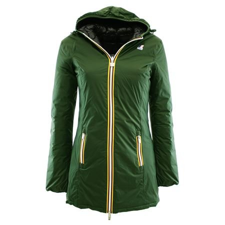 DENISE THERMO PLUS DOUBLE901 GREEN WOOD - BLACK Kway piumino da donna reversibile colore verde Verde 4 XXL