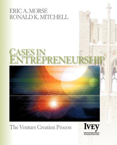 Cases in Entrepreneurship: The Venture Creation Process
