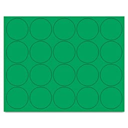 MasterVision - Interchangeable Magnetic Characters, Circles, Green, 3/4\