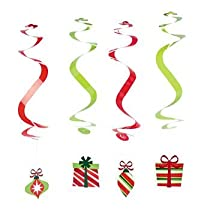 12 Christmas Dangling Swirls