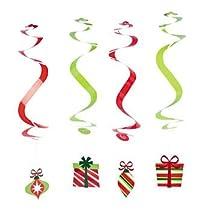 12 Christmas Dangling Swirls