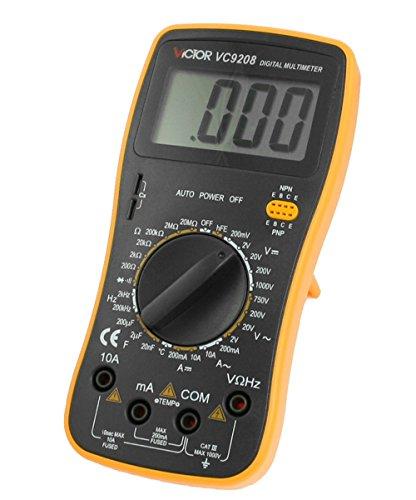 Victor Vc9208 3 1/2 Digital Mulitmeter Lcd Ac Dc Voltmeter Ammeter Ohmmeter Frequency Temperature Meter