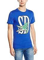 SUPERDRY Camiseta Manga Corta (Azul)