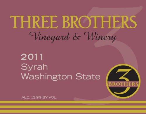 2011 Three Brothers Vineyard & Winery Rattlesnake Hills Syrah 750 Ml