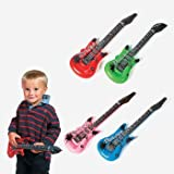 Rhode Island Novelty (Pack of 12) Inflatable Rock Star Electric Guitar, Assorted Colors