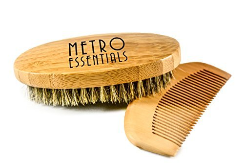 Pocket Beard Brush and Comb Set 100% Boar Bristle for Mustaches and Beards (First Place Finish Car Care compare prices)