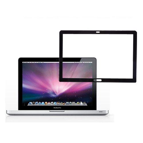 """Cosmos ® Black Frame Bubble Free Anti-Scratch Lcd Screen Skin Protector For Apple Macbook Pro 13"""" 13.3"""" A1278- Anti-Glare"""