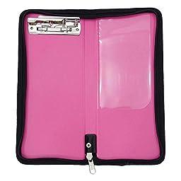 Pink Cheque Book Holder Chequebook Slip File Folder Organizer Office Supplies Pack Of 5
