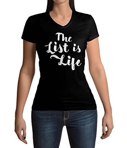 schindlers-list-inspired-the-list-is-life-quote-graphic-womens-v-neck-t-shirt-s
