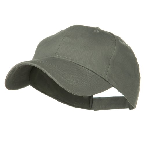 Youth Brushed Cotton Twill Low Profile Cap - Grey OSFM (Children Baseball Cap compare prices)