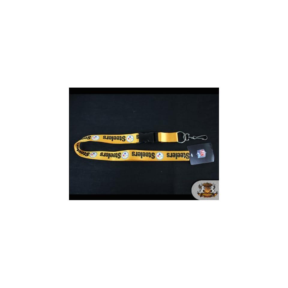 NFL Licensed Pittsburgh Steelers   Yellow Detachable 25 Lanyard