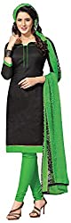 Snija Fashion Women's Unstitched Dress Material (Pkr1807, Black)