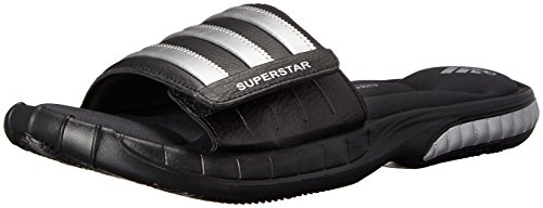 Adidas Men'S Superstar 3G Slide Sandal,Black/Metallic Silver/Solid Grey,14 D Us back-140718