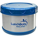 LunchBots Thermal 16-ounce Stainless Steel Insulated Food Container, Dark Blue