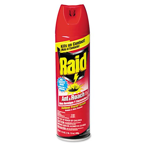 Raid Products - Raid - Ant and Roach Killer, 17.5-oz. Aerosol Can - Sold As 1 Each - Extremely fast knockdown. - Kills a broad range of crawling insects. - Contains active ingredients for rapid kill action and residuals to keep killing for up to four weeks. - Light, outdoor fresh scent. -