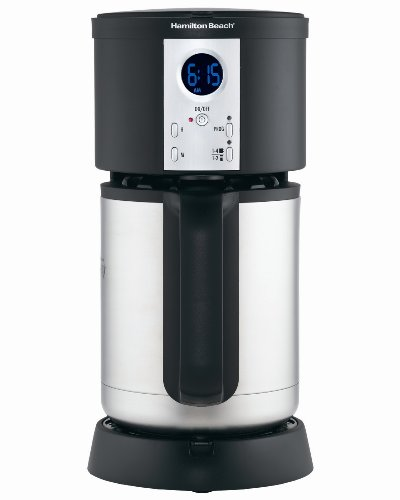 Best Coffee Maker With Insulated Carafe : Hamilton Beach Coffee Maker, Stay or Go Digital with Thermal Insulated Carafe