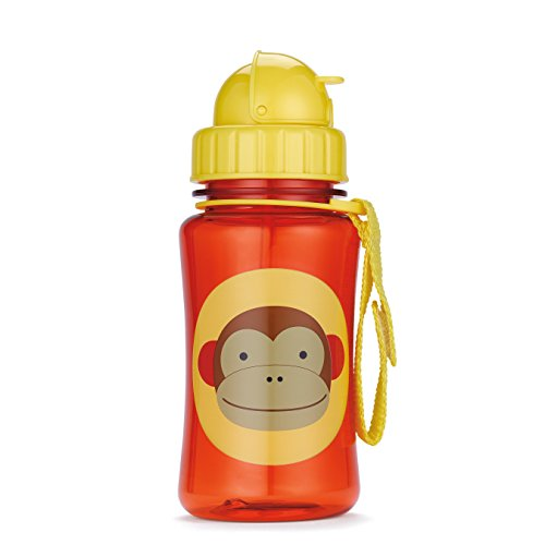Skip Hop Baby Zoo Little Kid and Toddler Feeding Travel-To-Go Flip Top Straw Bottle, 12 oz, Multi Marshall Monkey (Monkey Sippy Cup compare prices)