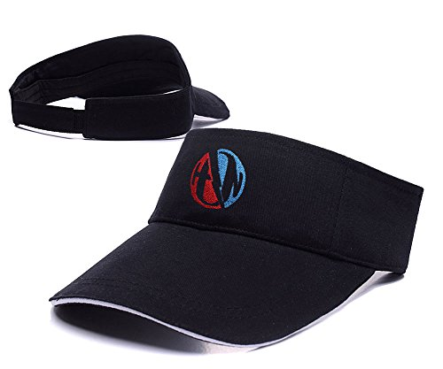 konigreichs-garo-pop-rock-band-hanson-log-sun-cap-stickerei-golf-visier-hat-einheitsgrosse-schwarz