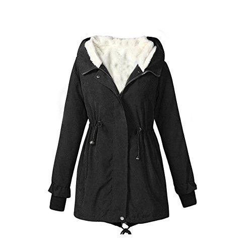 fami-ladies-hooded-parka-manteau-molletonne-veste-a-manches-courtes-taille-m-noir
