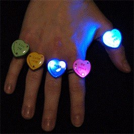 Candy Heart Rings Body Light