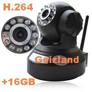 IP Camera Wireless IR-CUT H.264 WIFI 2 Audio Night-Vision Security Cam+16GB TF