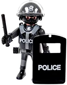 Amazon.com: Playmobil Loose Minifigure Police Officer with Riot Shield