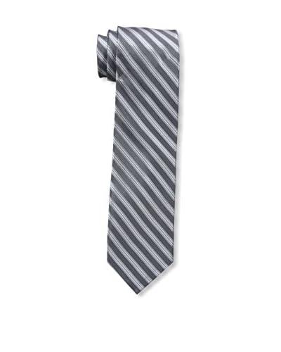 Bruno Piattelli Men's Striped Tie, Grey