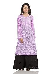 ADA Traditional Chikankari Handmade Georgette Ethnic Wear Casual Kurti Kurtas A95487