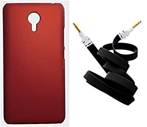 Toppings Hard Case Cover With Aux Cable For Meizu M2 Note - Red