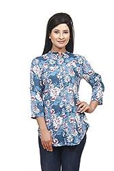 Wisstler Women's Multi Color Rayon Tunics Size : Large