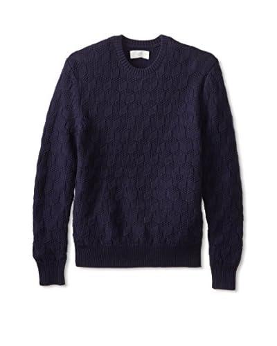 Jack Spade Men's Geo Textured Crew Neck Sweater