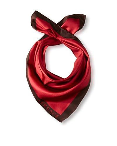 Versace Women's Plain Silk Scarf, Red/Black