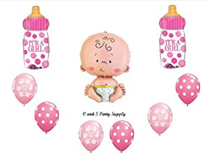 Anagram Its A Girl Baby Bottle Shower Balloons Decorations Supplies