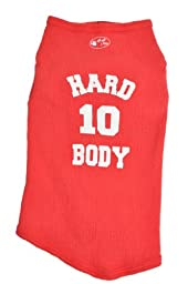 Ruff Ruff and Meow Dog Tank Top, Hard Body, Red, Medium