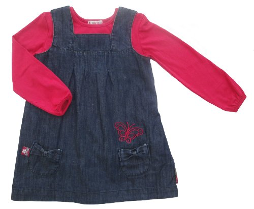 Bright Bots Baby Girl Pinafore Style Dress with matching Top size 18-24 months