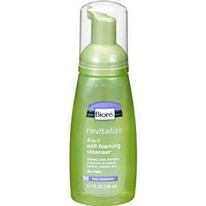 Revitalizing Self-Foaming Cleanser Women by Biore, 6.7 Ounce