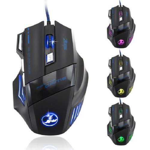 Amjimshop Vovotrade(Tm) 3200 Dpi 7 Button Led Optical Usb Wired Gaming Mouse Mice For Pro Gamer