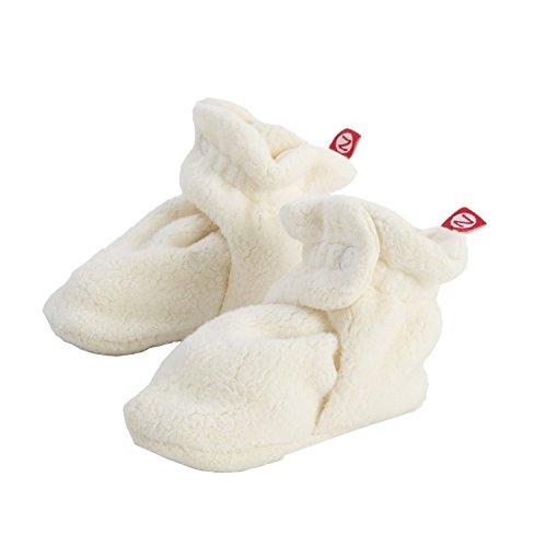Zutano Newborn Unisex-Baby Fleece Bootie, Cream, 6 Months