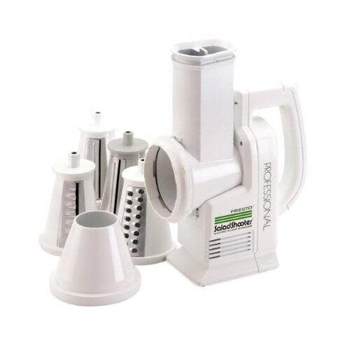 Presto Professional SaladShooter Electric Food Slicer - 114 W - White