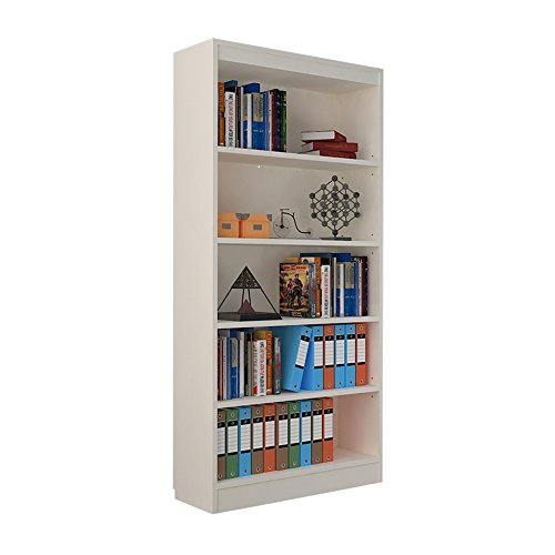 Alpha Bookcase with 4 shelf, 67 inch high-White