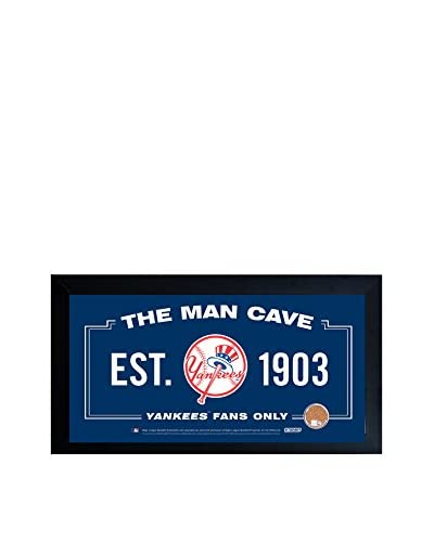 """Steiner Sports Memorabilia New York Yankees Sign With Authentic Game-Used Dirt Capsule, 10"""" x 2..."""