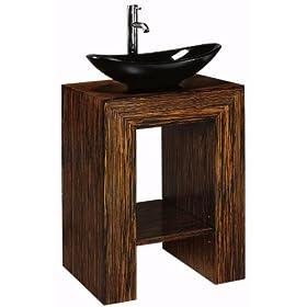 "Taylor Sink Cabinet Vanity, 22""Hx20""W, EBONY"