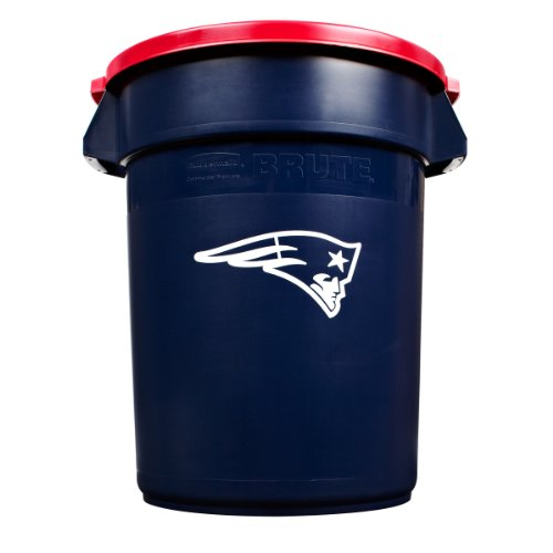 Rubbermaid Commercial Team Brute 32-Gallon Trash Can and Lid, New England Patriots