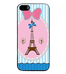 Fuson Premium 2D Back Case Cover Eiffel tower With Multi Background Degined For Apple iPhone 4::Apple iPhone 4S