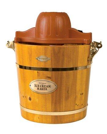 4-quart木制水桶电动冰淇淋制造商